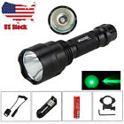 5000lm CREE T6 Whit Green Rechargeable LED Tactical Flashlight Torch 18650 Lamp