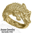 14k Solid Yellow Gold Crocodile Ring for Men's and Women's