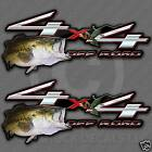 Bass Fishing Sticker - 4x4 Truck Decal Largemouth Fish Pond Frog Graphic