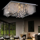 Spectacular Square Crystal Flush-Mount Ceiling Fixture Pendant Light Chandelier