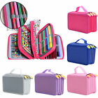Colors Portable Drawing Sketching Pencils Pen 72Pcs Pencils Case Holder Bag
