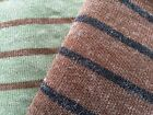 Mohair Blend Knitted Striped Jumper Sweater Fabric Material FREE P&P