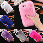Colors 1X Popular Rabbit Fur Crystal Rhinestone Case Cover Bag Fashion Phone Bag
