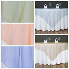 """10 pc 60x60"""" Organza Table Overlays Wedding Decorations Wholesale - 24 colors!"""