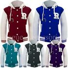 Hooded Varsity Orlando Fox 61 College Baseball Bomber Jacket Top Womens Size  Wo