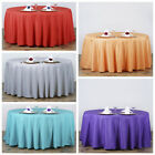 "10 pcs 120"" Round Polyester Tablecloths Wedding Linens Decoration Supplies"