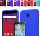 Film LCD+Silicone Rubber Slim Case Cover For Alcatel Dawn/Streak/Ideal/Acquire