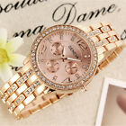 Wristwatches - Fashion Womens Bracelet Stainless Steel Crystal Analog Quartz Dial Wrist Watch