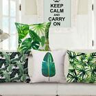 Green Leaf Cotton Linen Cushion Cover Throw Pillow Case Home Decor Beauty