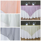 """15 pc 60x60"""" Sheer ORGANZA Table Overlays Wedding Party Reception Decorations"""