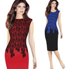 Womens Sexy Elegant Casual Party Work Office Bodycon Sheath Pencil Dresses Lace