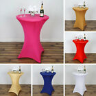 6 pcs COCKTAIL SPANDEX TABLE COVERS Fitted Wedding Party Catering Tablecloths
