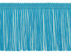 """Turquoise Blue 4"""" Chainette Fringe Trim Saphire Seas [By The Yard]"""