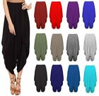 Women Ladies Gathered Draped Baggy Harem Pants Trousers Lagenlook Alibaba 8-26