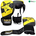 Punch Boxing Gloves Sparring MMA UFC Muay Thai Pro Gym Fight Grappling Pads