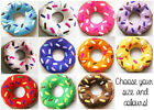 CHOOSE YOUR SIZE AND COLOUR DOUGHNUT CUSHION DONUT PILLOW PLUSH TOY KIDS ROOM