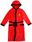 Manchester United FC official boys hooded fleece dressing gown age 3-13 years
