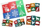 Washable plastic stencils christmas dinosaurs farm wild animals creepy crawlies