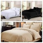 STYLISH EMBROIDERY PLAIN BEDDING SET WITH DUVET COVER -FITTED SHEET- PILLOW CASE