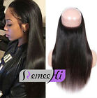 Peruvian Virgin Straight Hair 360 Elastic Band Full Lace Frontal Closure