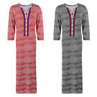 LADIES 100% COTTON LONG NIGHTDRESS NIGHTY CHEMISE EMBROIDERY DETAILED SIZE 8-20