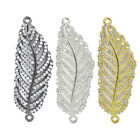 Cubic Zirconia Crystal Paved Softy Feather Bracelet connector Charm Cooper 1pc