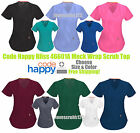 Code Happy Bliss Mock Wrap Scrub Top Style 46601A Choose Size &Color Ships Free!