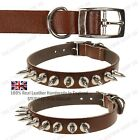 New High Quality Adjustable Neck Strap Pet Dog Leather Studded Collar Buckle