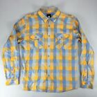 Insight The Pervert Casual Checkered Shirt New - Size: S - Orange Check