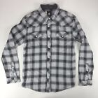 Insight West Term Casual Checkered Shirt New - Size: S - Grey