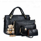 Women Handbag 5Pcs Tote Purse Leather Ladies Shoulder Messenger Hobo Bag