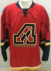 CCM Edge Adirondack Flames Pro Stock Game Jerseys White / Red