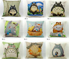 "18"" Thick Cotton Linen Design Totoro Pillow Case Decorative Sofa Cushion Cover"