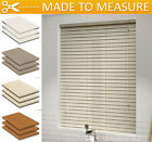 MADE TO MEASURE FAUX WOOD VENETIAN BLINDS WITH STRINGS - 50mm SLATS - CORDS