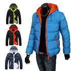 Men's Winter Clothes Casual Warm Jacket Hoody Thick Coat Parka Padded Overcoat