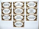 24 x Small Attractive Various Marmalade Types Labels Rustic style 64x34mm