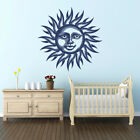 Sun Smilie Face Vinyl Wall or Ceiling Decal - fits child's nursery + more K654