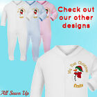 Embroidered Personalised First Christmas Sleepsuit / Babygrow / Bib / 1st - Snow