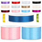 Double Sided Satin Ribbon Double Faced.3,6,10,12,25,38mm (2,10,25 Metre Lengths)