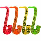 Inflatable Music Guitar Saxophone Microphone Blow Up Fancy Dress Party Prop Lot