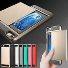 Shockproof Wallet Credit Card Holder Case Cover Slot for iPhone 6 6S 7 Plus RF