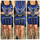 Women's Multi - Colored Mini Bodycon Dress