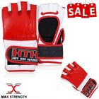 MMA Gloves Real Leather Boxing Fight Punch Bag Muay Thai Punching Sport