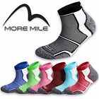 5 Pairs More Mile Cushioned COOLMAX Padded Sports Running Socks Mens Ladies Pack
