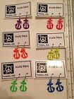 "Silvertone Tall 1"" ANCHOR Dangle Earrings - Free Shipping- 6 Bright Colors"