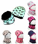 Girls / Kids Hat With tube Scarf Cotton/Minky DOUBLE-SIDED /1-3y/4-10 years