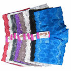 6 SEXY SOFT Lace Boyshorts Small Medium Large Women Panties Lingerie Underwear