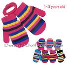 12~120pair Children Girl  Toddler Kids Striped Mittens Winter Gloves Knitted Lot