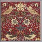 Metric Porcelain Tile William Morris Strawberry Thief Red Walls Floors Kitchens