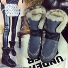 Fashion Women's Fur Lined Winter Thicken Warm Ankle Snow Boots Buckle Shoes New